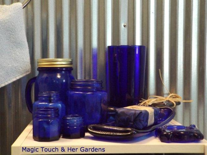 cobalt cosmetic jars