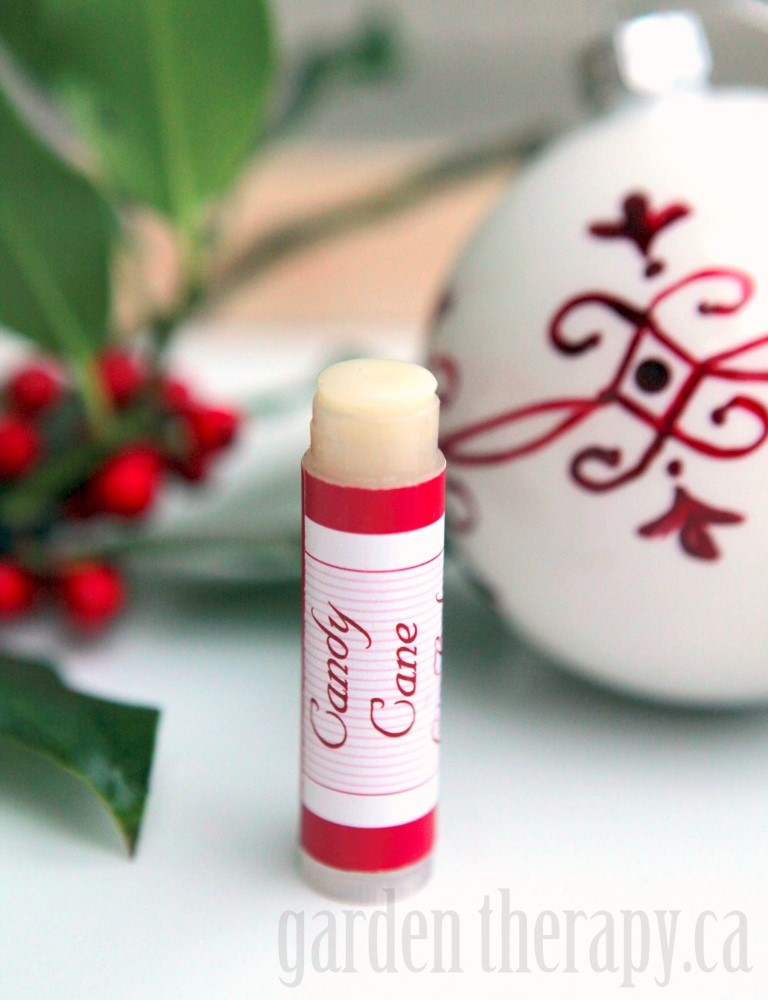 Candy Cane Lip Balm Recipe #handmade #holiday #gift