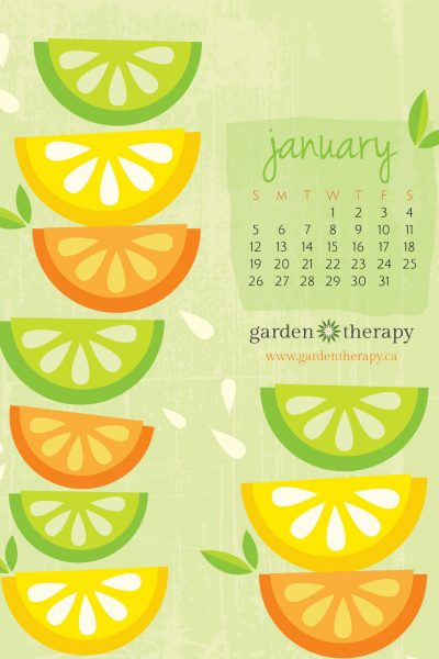 Free Desktop Calendar Wallpaper: Citrus Celebration!