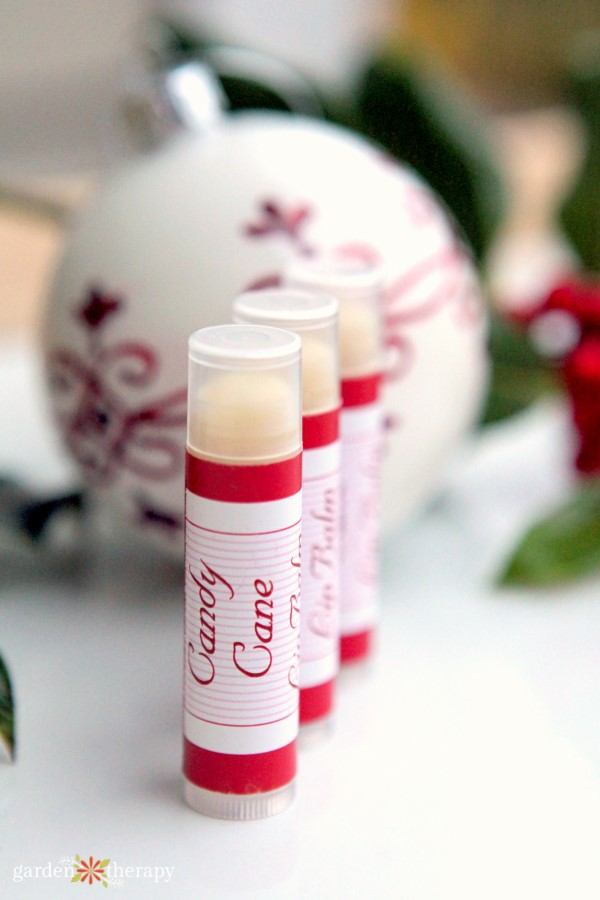 Homemade Candy Cane Lip Balm