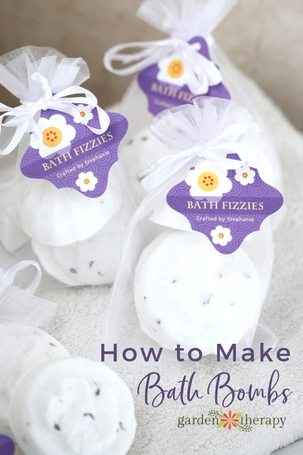 How to Make Bath Bombs - homemade bath bombs in bags for gifting