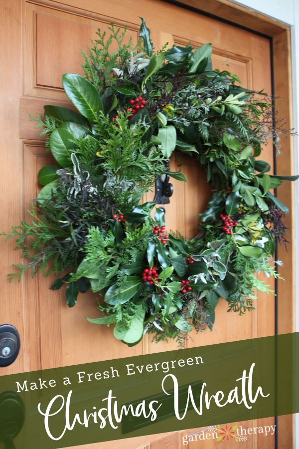 An Evergreen Christmas.How To Make A Fresh Evergreen Christmas Wreath From Scratch