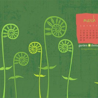 Fiddledeedee, March's Calendar is Finally Here!