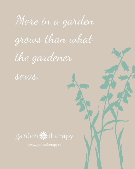 More in a garden grows than what the gardener sows #free #printable #quote