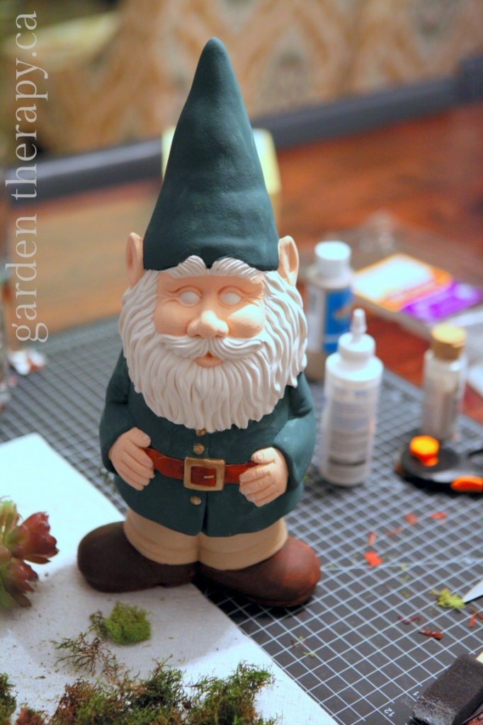 Painting the Ceramic Gnome