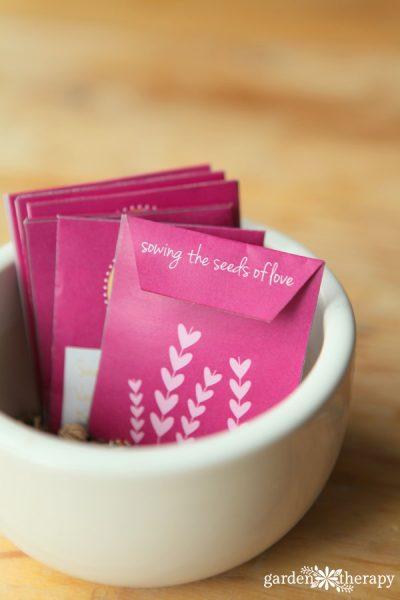 Free Printable Valentines Seed Envelopes / Seed Packets