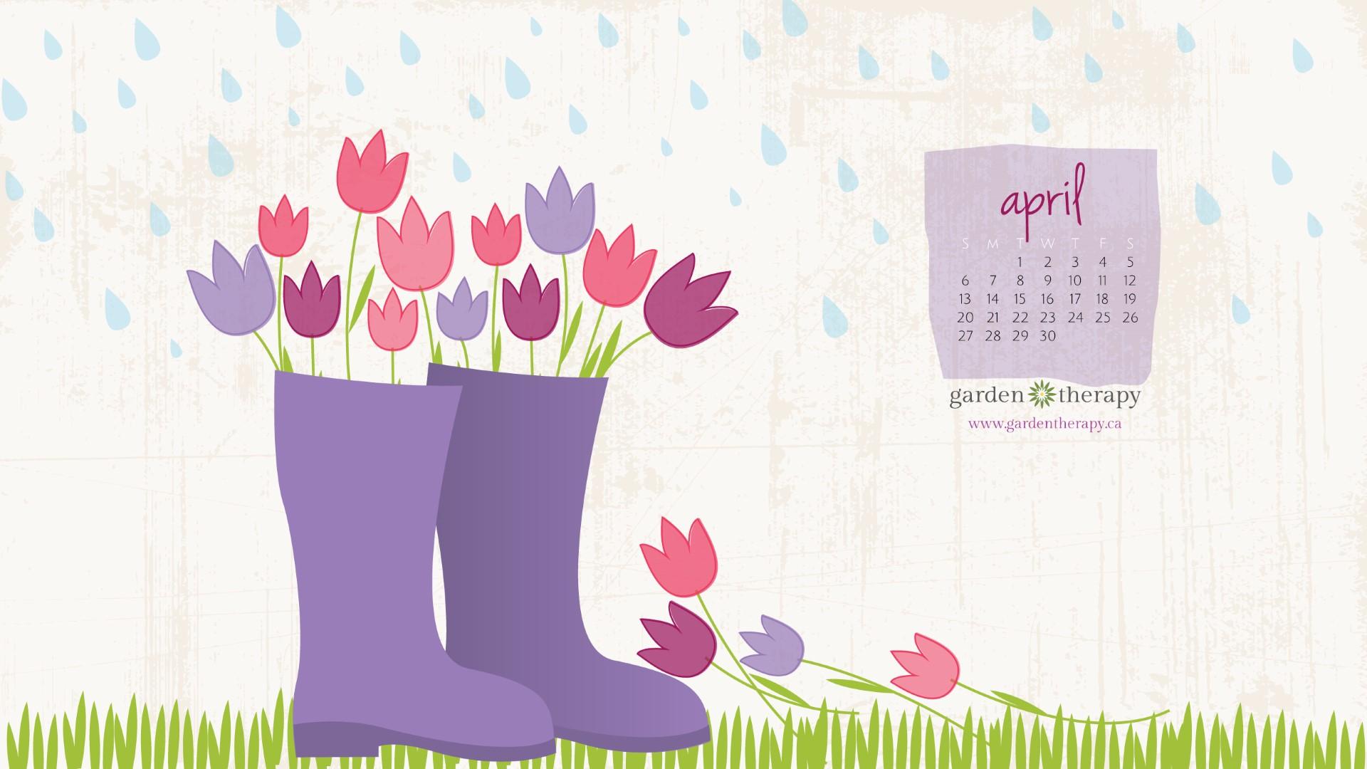 April Showers Bring April S Desktop Calendar And Garden
