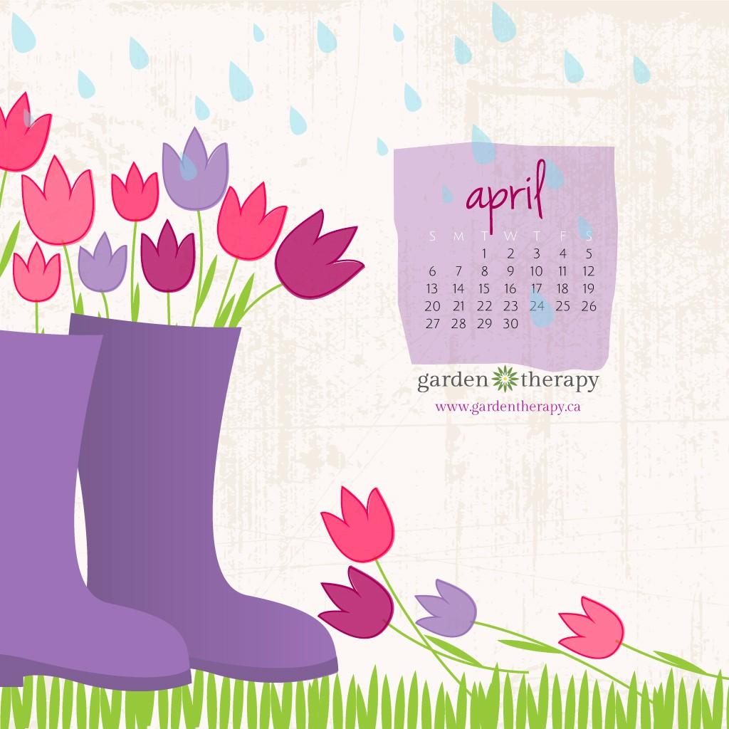 April Showers Bring...April's Desktop Calendar and Garden ...