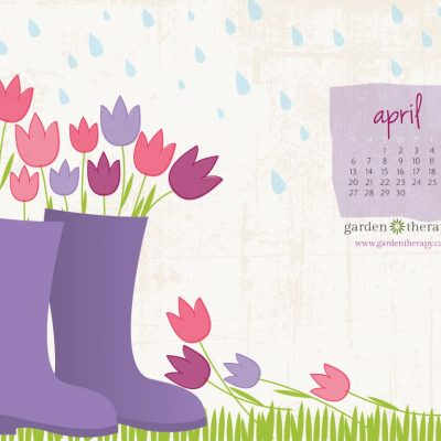 April Showers Bring…April's Desktop Calendar and Garden To Do List!