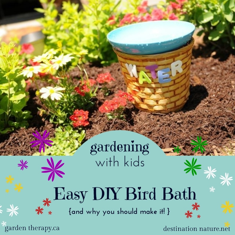 Gardening With Kids Easy DIY BirdBath Project (and Why You Should Make It!)