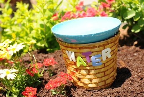 Gardening with Kids Easy DIY BirdBath Project