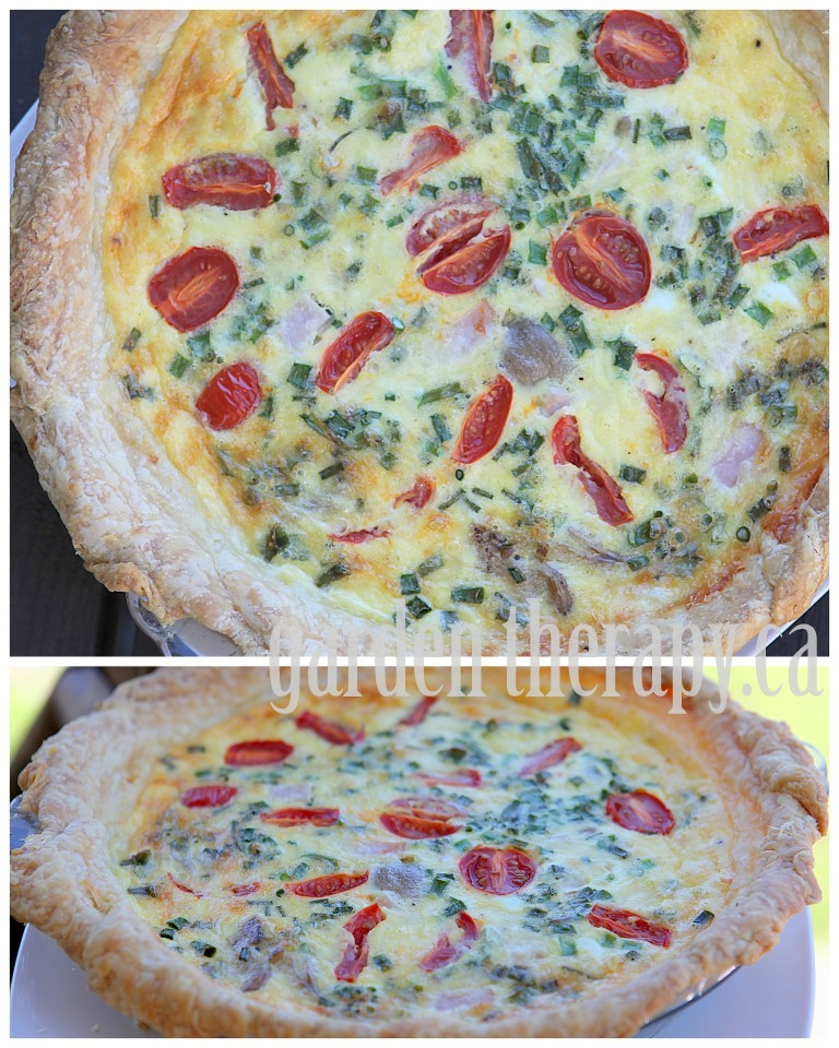 Garden Fresh Quiche with Tomatoes, Chives, and Goat Cheese