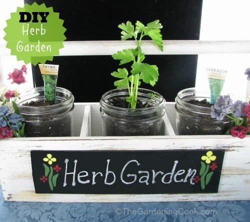 DIY Herb Garden Planter in Farmer's Market Display #EarthDayProjects