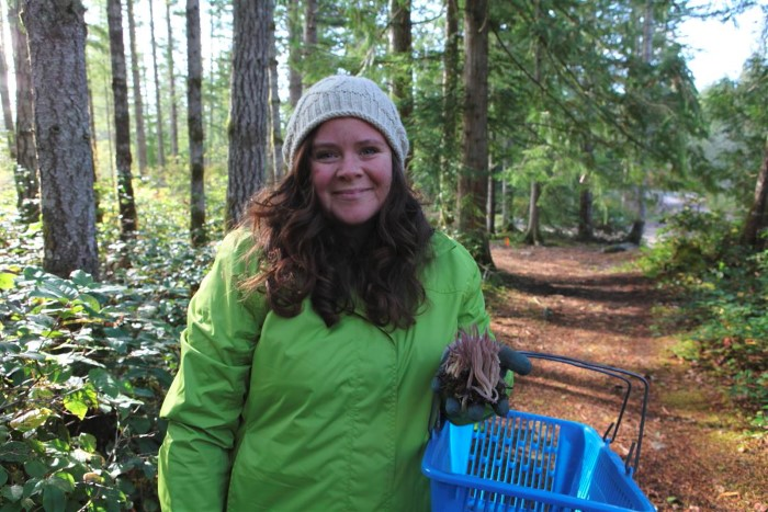 Stephanie Mushroom Hunting from Garden Therapy