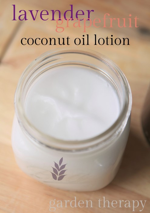 All Natural Lavender Grapefruit Whipped Coconut Lotion Recipe