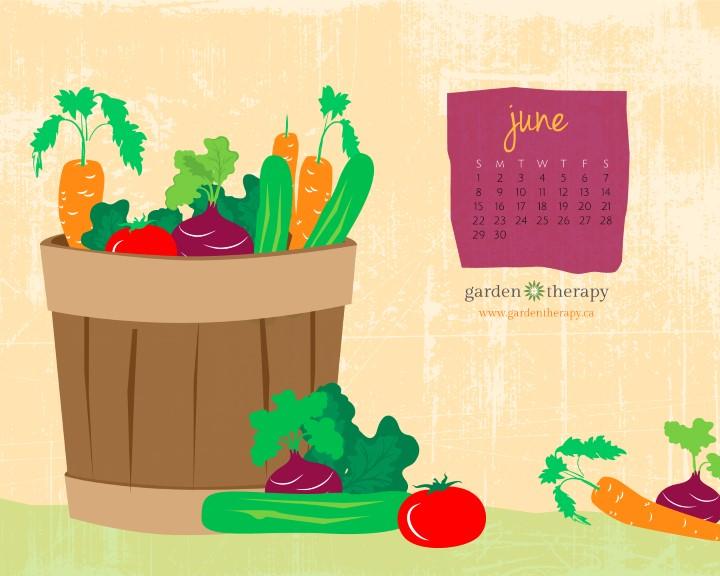 Garden Therapy Printable Calendar June 8x10