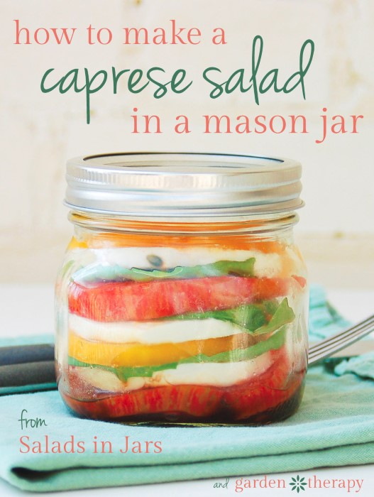 How to Make a Layered Caprese Salad in a Mason Jar