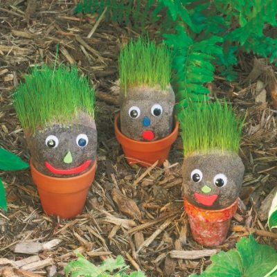 Gardening with Kids: Grassy Garden Gnomes