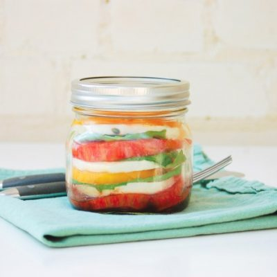 Portable Caprese Salad in a Mason Jar Recipe