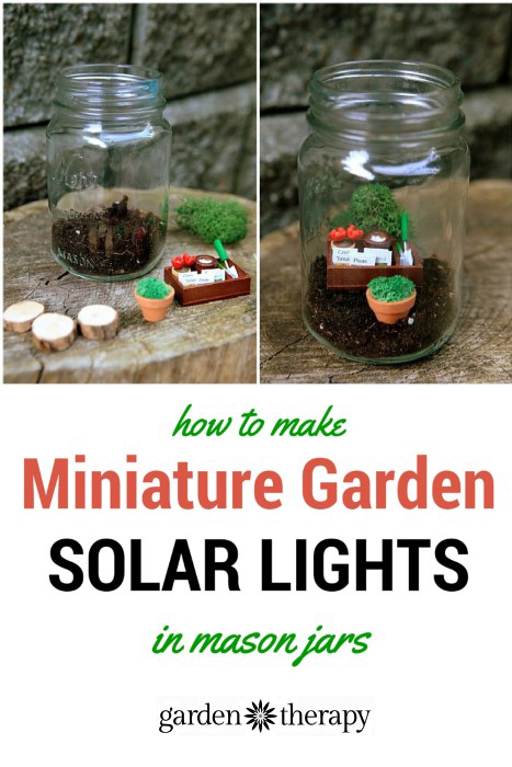Mason Jar Mini Garden Solar lights !