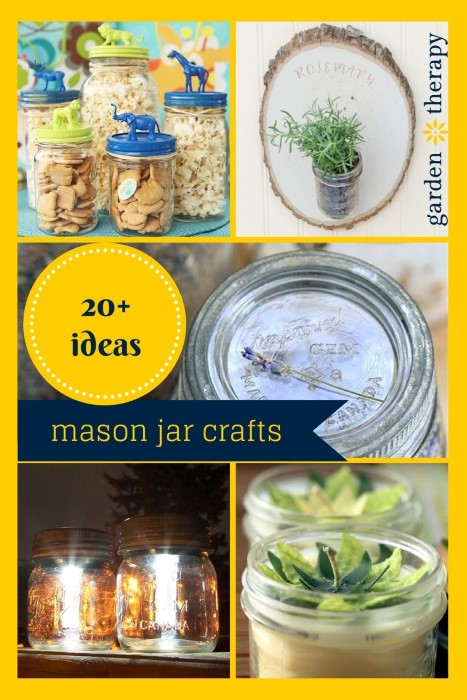 More than 20 Creative Mason Jar Craft Projects and even a few ideas on gardening in jars