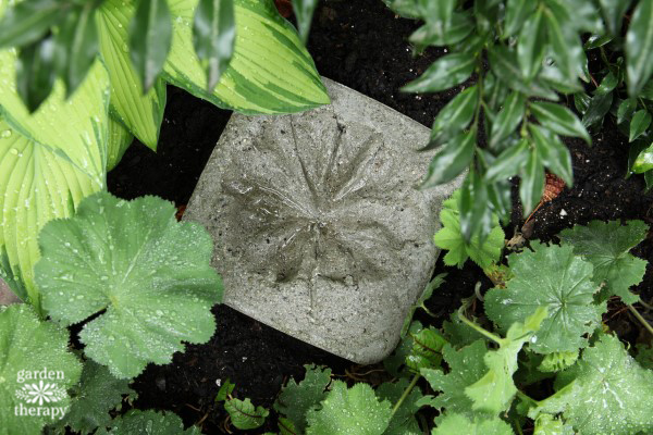 leaf imprint stepping stones project
