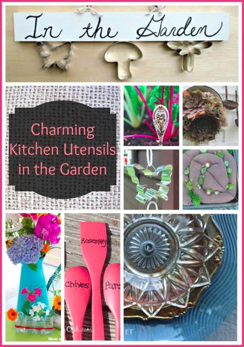 Charming Kitchen Utensils in the Garden Round Up from the top crafty garden bloggers