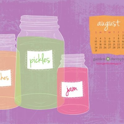 August Calendar: Can You Can? Yes, You Can!