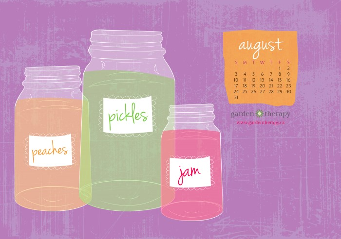 Garden Therapy Free Printable Or Downloadable Calendar August You Can Can