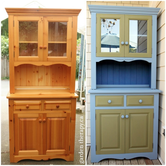 BBQ Cabinet Before and After