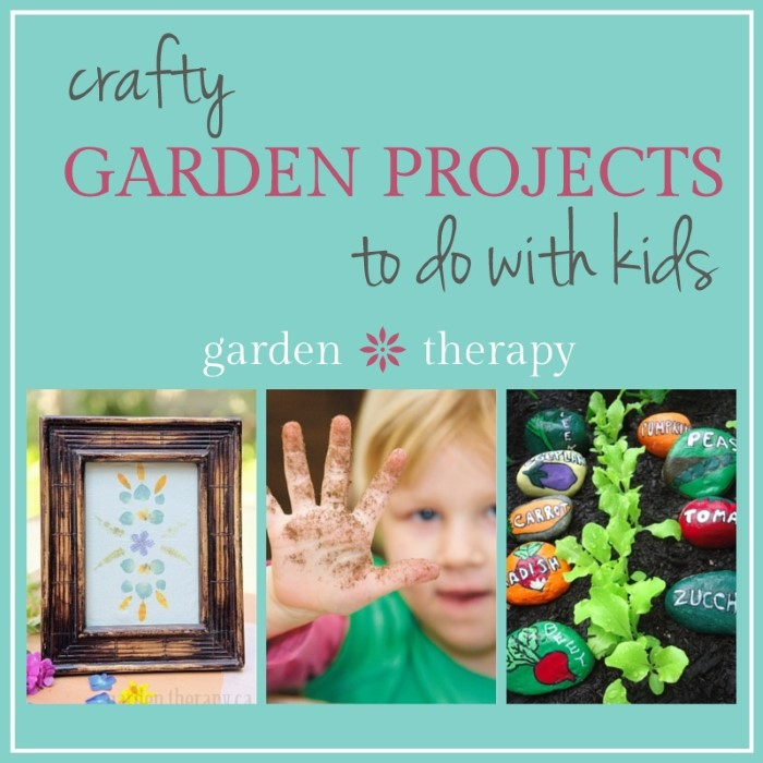 Crafty Garden Projects to do with Kids: tons of ideas here for all ages
