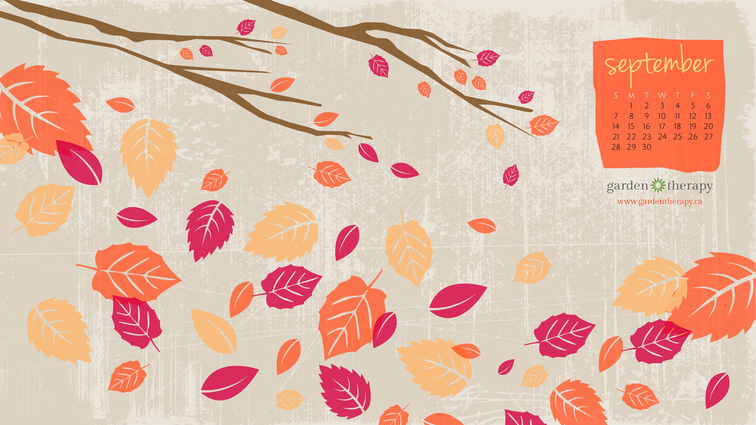 Free Calendar Wallpaper September : Falling for the september desktop calendar garden therapy