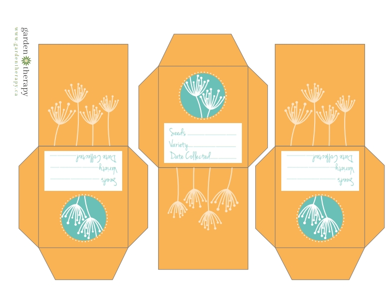Free Printable Flower Seed Collection Packets