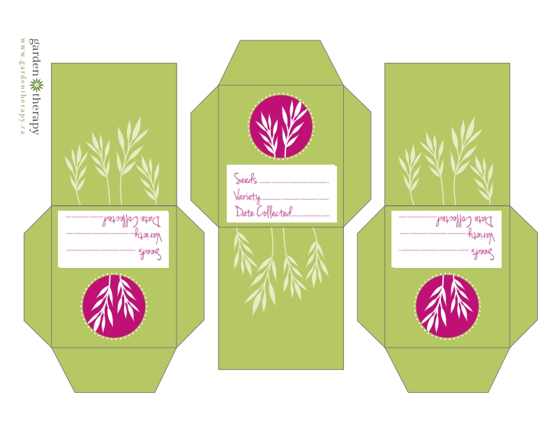 Free Printable Herb Seed Collection Packets