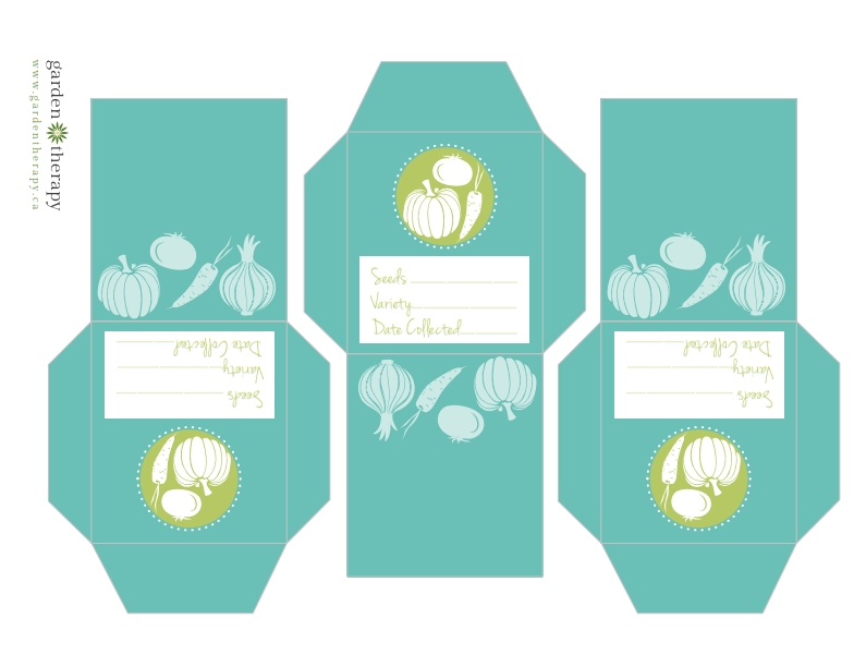 Free Printable Vegetable Seed Collection Packets