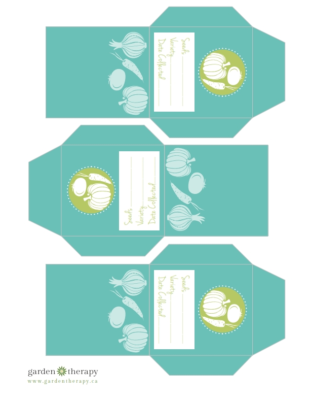 Free Printable Vegetable Seed Envelopes from Garden Therapy
