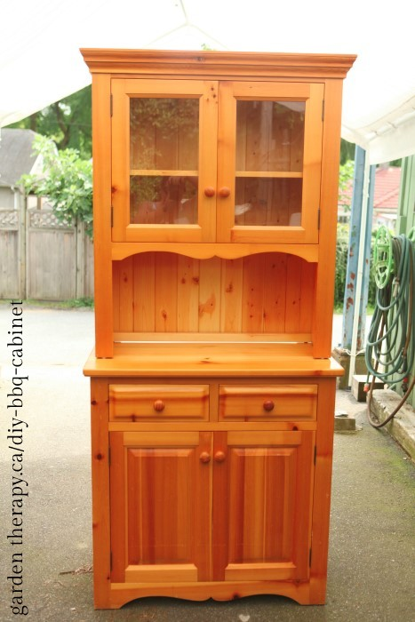 Honey toned cabinet BEFORE - wait until you see what it looks like now!