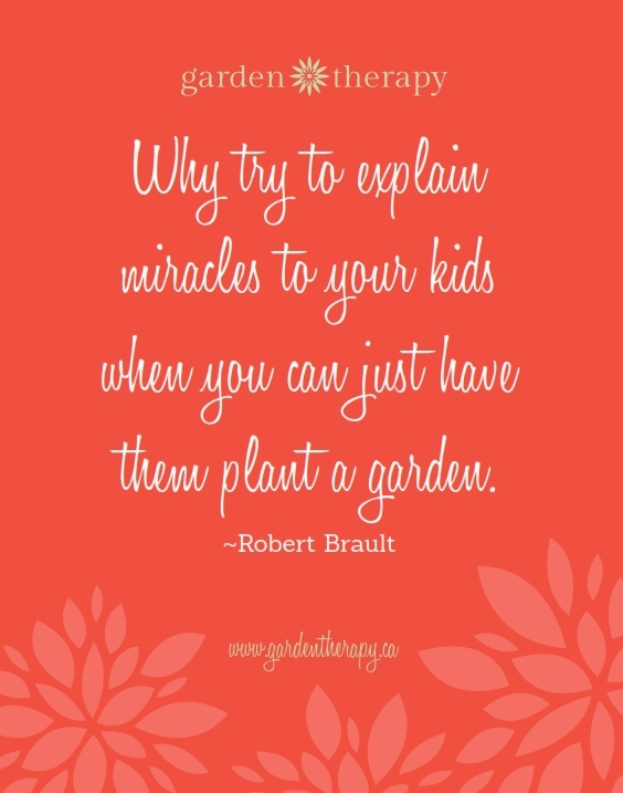 Why try to explain miracles to your kids when you can just have them plant a garden FREE PRINT