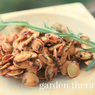 Highly Addictive Rosemary Pumpkin Seeds