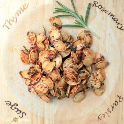 Deliciously Sweet and Salty Rosemary Pumpkin Seeds