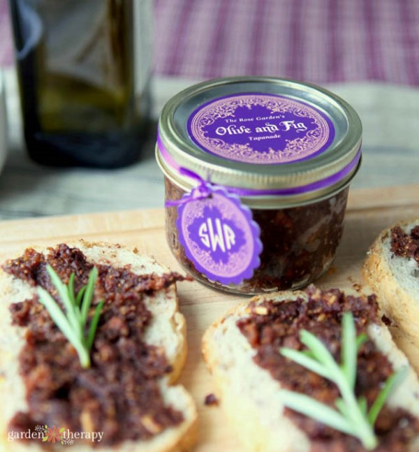 tapenade on crusty bread