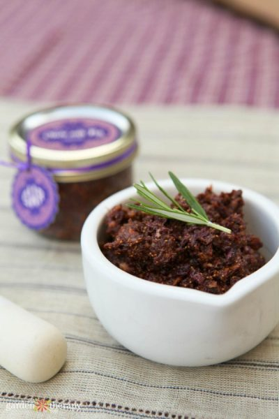 homemade olive and fig tapenade