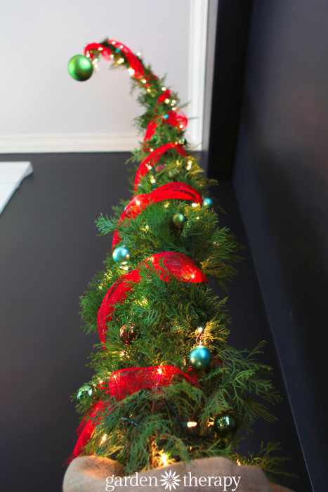 A totally different kind of Christmas tree from How to Make a Nine Foot Grinch Tree
