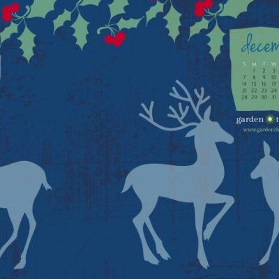 December Desktop Calendar Winter Woodland Theme