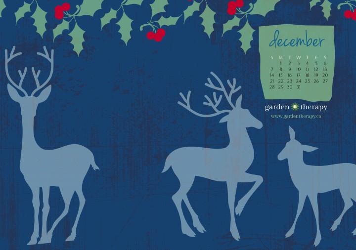 Garden Therapy Winter Woodland Calendar December 8x10