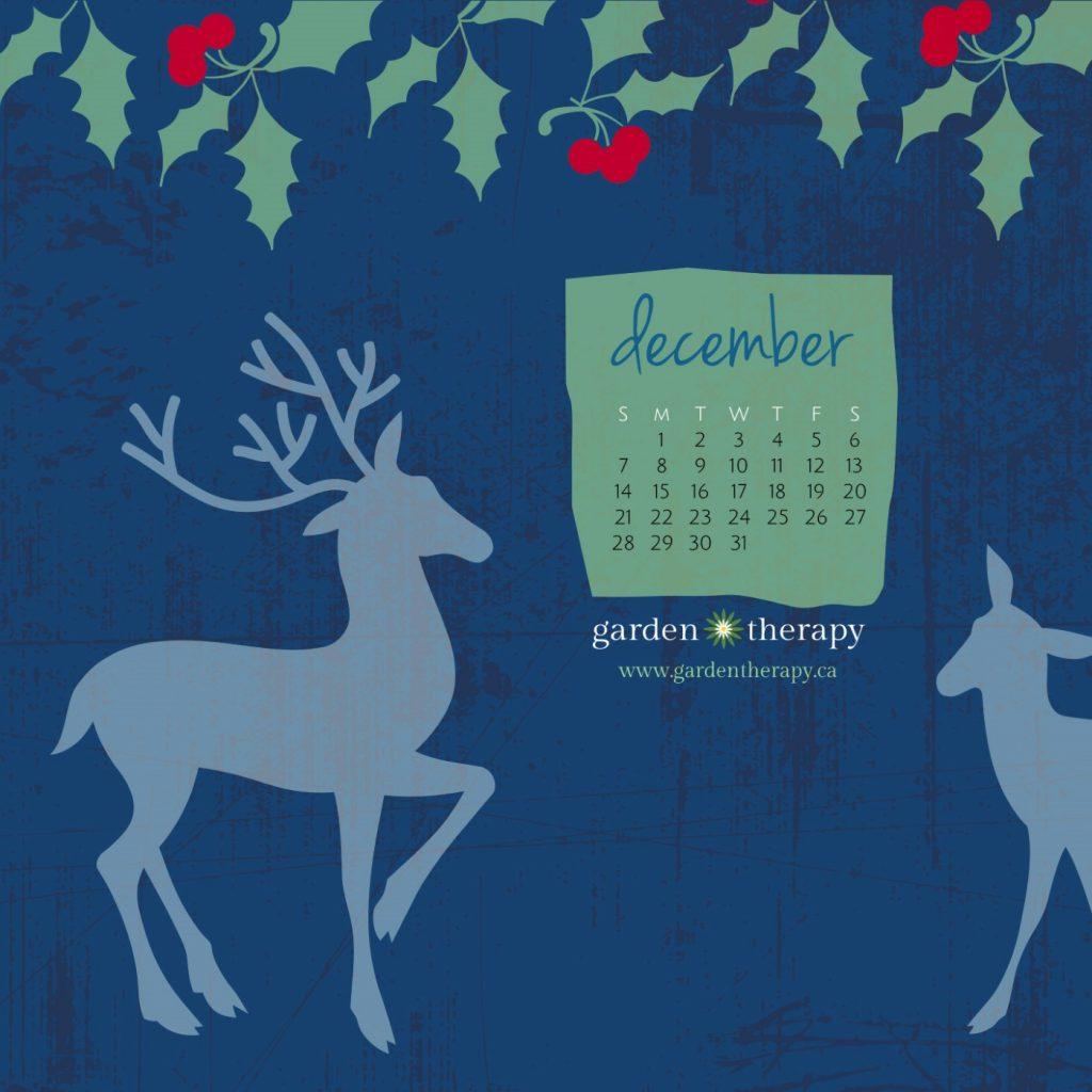 Garden Therapy Winter Woodland Calendar mobile