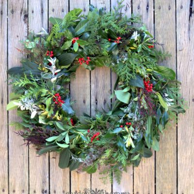 This Year Make an Evergreen Christmas Wreath (from Scratch)
