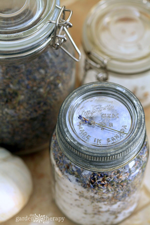 Lavender Bath Salts Mason Jar