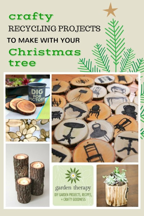 recycling projects to make with your Christmas tree