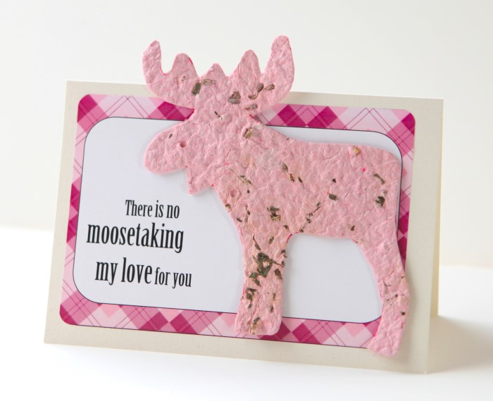 Theres No Moosetaking My Love For You DIY Seed Paper Valentine